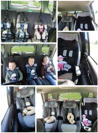 RideSafer fit 3 car seats in a row