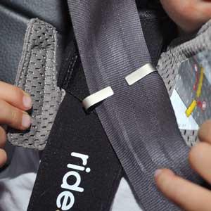 Ride Safer travel vest shoulder clip