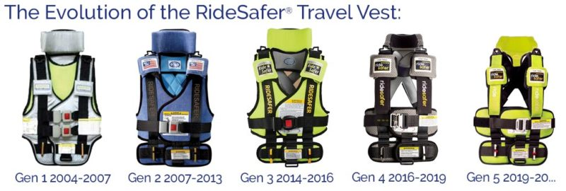 ridesafer travel vest car seat evolution
